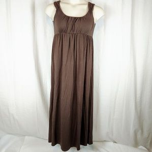 Boden Maxi Tank Dress Chocolate Brown Size 12 EUC